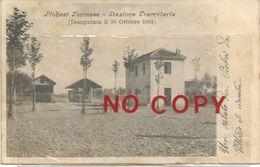 Piobesi, Torino, 8.8.1905, Stazione Ferroviaria Inaugurata Il 16.10.1904. - Stazioni Senza Treni