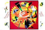 [DC0508] CARTOLINEA - BENVENUTO EURO - AGOSTO 2002  - DISEGNO DI UGO NESPOLO (08 DI 12) - NV - Monete (rappresentazioni)