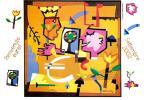 [DC0509] CARTOLINEA - BENVENUTO EURO - SETTEMBRE 2002  - DISEGNO DI UGO NESPOLO (09 DI 12) - NV - Monnaies (représentations)