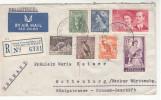 Australien, Luftpost Einschreibe Brief-Kuvert, NSW Queens Victoria Buildings Nach Rottenburg, Gelaufen 1954 - Briefe U. Dokumente