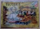 BULGARIA SOUVENIR Beautiful Magnet RURAL VIEW Sea Bridge BOAT LANDSCAPE - Tourisme