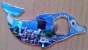 BULGARIA SOUVENIR Beautiful Dolphin-Shaped Magnet FAMOUS VIEWS Combined Bottle Openner - Tourisme