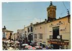 VIAS-1974-Le Centre Commercial,(animée,Café De La Paix,pubs Bière La Meuse Et Glaces MIKO-cachet Secap Muette VIAS-34 - Autres Communes