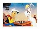 CPM LUCKY LUKE Et Ses Compagnons  Avec  Cachet Des XXIe Jeux Olympiques Echiqueens De Nice 1974 - Fumetti