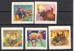VIETNAM DU NORD 1973 YT 808/12  ND   UTILISATION DES ELEPHANTS - Viêt-Nam