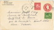 """EN-L34 - ETATS-UNIS Entier Postal Lettre + N° 282 """"cinquantenaire De L'invention De L'ampoule électrique"""" 1929 - Electricité"""