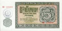 DDR Banknote - MILITÄRGELD - 5 Mark Der DDR, Ro. 375 A ( Serie HZ ) UNC, 1955 ( 1980 ) ! - [ 6] 1949-1990: DDR - Duitse Dem. Rep.