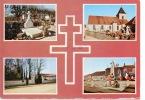 Colombey Les Deux églises Multivues Tombe Famille De Gaulle Entrée Boisserie Monument Aux Morts (n°52/140/05 La Cigogne - Colombey Les Deux Eglises