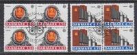 Europa Cept 1990 Denmark 2v Bl Of 4 Used 1st Day - Stamps With Full Gum (25584 - 1990