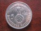5 Reichsmark 1936 D Silber Swastika 100% Versandkostenrabatt Argent Silver Coin Münze DELC 207 - 5 Reichsmark