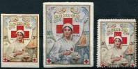 3 VIGNETTES CROIX-ROUGE (SECTION FRANCAISE DE MEXICO) - Commemorative Labels