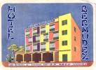 12 HOTEL Labels VENEZUELA Caracas Maracay Isla De Margarita Tachira Maracaibo Trulillo CUBA Habana - Hotel Labels