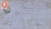 Österreich 1877 - 5 Kreuzer Auf Falt-Brief Stempel Schwarzenberg + Egg, Brief Mit Inhalt, Fleckig - Briefe U. Dokumente