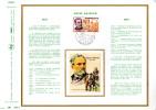 """(2200 Ex)  MONACO 1972 : Doc Artistique Philatélique 1er Jour N°té En Soie """" LOUIS PASTEUR """" N° YT 913. FDC - Louis Pasteur"""