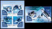 SOLOMON Isl. 2015 - Orcas. M/S + S/S - Walvissen