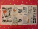 6 Publicités Michelin. Pneu, Bonhomme, Carte, Guide. Sorties De Revues 1910-1920 - Publicités