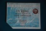Rationnement - Bon Matiere D'acier Ordinaire 1kg Acier Ordinaire Change - Historische Dokumente