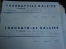 3 Lettres Du Laboratoire Gallier, 1942/43 - 1900 – 1949