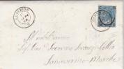 Camerino Per San Severino Marche . Su Plico Con Contenuto 1866 - 1861-78 Vittorio Emanuele II