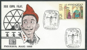1988 SPAGNA BUSTA SPECIALE ESPOSIZIONE FILATELICA FIGUERES - F - FDC