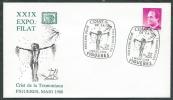 1988 SPAGNA BUSTA SPECIALE ESPOSIZIONE FILATELICA FIGUERES - F-2 - FDC