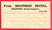 11 HOTEL Labels ENGLAND SCOTLAND Shandon Aberfoyle IRELAND Kenmare Galway Bay Peterborough Burnley Aberdeen Kent Penzan - Hotel Labels