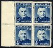 SLOVAKIA 1939 Child Welfare Block Of 4  MNH / **.  Michel 69 - Unused Stamps