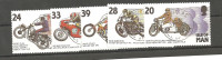 Man ; 1993; MoTORCYCLE COMPLETE 5 STAMPS        (man01) - Man (Eiland)
