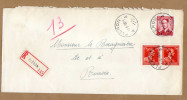 Enveloppe Cover Brief Aangetekend Registered Recommandé Fléron - Bélgica