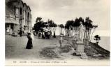 - ALGERIE - CPA Vierge ALGER - Terrasse De Notre-Dame-d´Afrique (avec Personnages) - Editions Lévy N° 196 - - Algerien