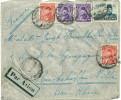 LETTRE PAR AVION D'EGYPTE POUR LA FRANCE EN 1947 AVEC TIMBRE 50 MILS ET DIVERS - Egypt
