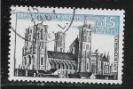 N° 1235 FRANCE - OBLITERE  -  CATHEDRALE DE LAON  -  1960 - Usados