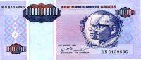 ANGOLA 100,000 Kwanzas 1995 P-139 **UNC** - Angola