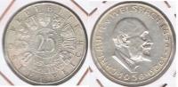 AUSTRIA 25 SCHILLING 1958 PLATA SILVER T BONITA - Austria