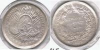BOLIVIA  MEDIO BOLIVIANO 1893 PLATA SILVER  T - Bolivia