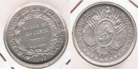 BOLIVIA  MEDIO BOLIVIANO 1897 PLATA SILVER  T2 - Bolivia