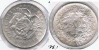 BOLIVIA  MEDIO BOLIVIANO 1903 PLATA SILVER  T - Bolivia