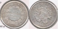 BOLIVIA BOLIVIANO 1871 PLATA SILVER BONITO T - Bolivia