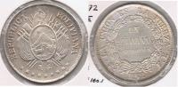 BOLIVIA BOLIVIANO 1872 PLATA SILVER BONITO T - Bolivia