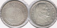 CHECOSLOVAQUIA 10 CORONAS 1928 PLATA SILVER T - Checoslovaquia