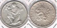 CHECOSLOVAQUIA 10 CORONAS 1955 PLATA SILVER T - Checoslovaquia