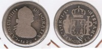 CHILE ESPAÑA CARLOS IIII REAL  SANTIAGO 1802 PLATA SILVER  T - Chile
