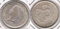 COLOMBIA 50 CENTAVOS PESO BOGOTA 1880 PLATA SILVER T IMPRESIONANTE - Colombia