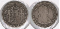 COLOMBIA ESPAÑA FERNADO VII BUSTO CARLOS IIII NUEVO REINO REAL 1810 PLATA SILVER T  RARA - Colombia