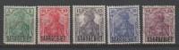 ALLEMAGNE - 1920 - SAARGEBIET - * & Obl. - Michel 32/35,39 - Valeur