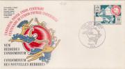FDC NOUVELLES HEBRIDES 09.10.1974 - Centenaire De L'UPU - FDC