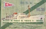 510Bf   Espagne Lot De 2 Billets Bateau Billete De Pasaje De Turista II Et III Butaca - Titres De Transport
