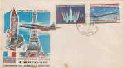 FDC NOUVELLES HEBRIDES 09.10.1968 - Concorde - FDC