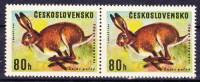 ** Tchécoslovaquie 1966 Mi 1664 ST (Yv 1526 Type I Et II Se Tenant), (MNH) - Czechoslovakia