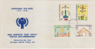 FDC NOUVELLES HEBRIDES 04.12.1979 - NOEL 1979 - FDC